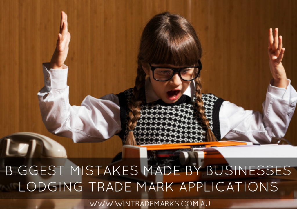 biggest mistakes trade mark applications